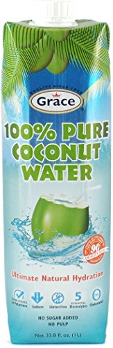 Grace 100% Natural Coconut Water - Tetra Prisma 12 Pack / 1L