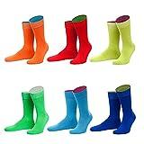 von Jungfeld - Herren Socken / Strumpf Herrensocken 6er-Pack gemischte Farben (regenbogen, 43-46)
