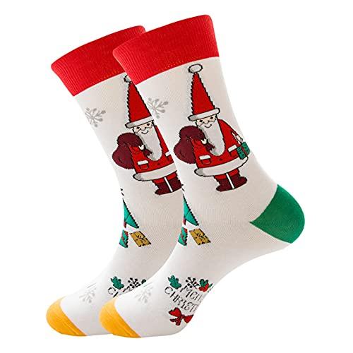 PJRYC Calcetines de Navidad Novedad Calcetines de Vacaciones, Felices y Coloridas Festivales Equipo, Zapatillas Calcetines (Vacaciones) y Socksanta Rodilla Regalos (Color : 37)