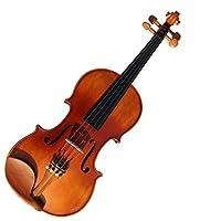 実用的なバイオリン ソリッドウッドバイオリンセットサテンアンティークは、ハードケースロジン弓を持つ学生子供と大人に適しています 優れた感触 (色 : 褐色, Size : 1/4)