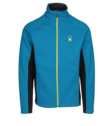 Spyder Men's Constant Full Zip Sweater (Blue/Yellow, XXL)