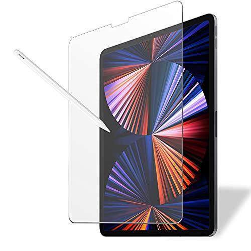 MS factory iPad Pro 12.9 用 ペーパー 紙 ライク ガラスフィルム 日本製 旭硝子 アンチグレア 強化ガラス フィルム Pro12.9 2021 第5世代 2020 第4世代 2018 第3世代 FD-IPDP3-GLS-PL