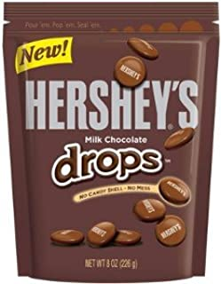 HERSHEY'S CHOCOLATE CANDY DROPS POUCH 8 OZ