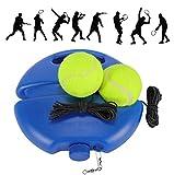 Fostoy Entrenador de Tenis, Equipo de Entrenador de Tenis Profesional con Elástica Goma y 3 Pelotas de Rebote para Entrenamiento Solo para Niños Adultos Principiantes, Naranja (Blue)