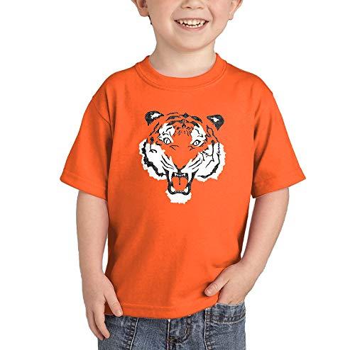 Tiger Face - Fierce Spirit Animal Infant/Toddler Cotton Jersey T-Shirt (Orange, 3T)