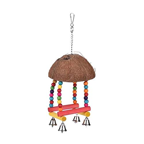 Gather together M 2 3 Style Color Bird Perch Parrot Hanging Swing Chew Toy Wood Bird Cage Accessories Toys Stand For Parrots Birds House Home