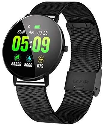Smartwatch, volledig scherm Touch Sportarmband GPS Tracker Hartslag bloeddrukmeter Smartwatch