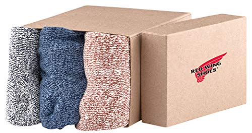 Red Wing Heritage Cotton Ragg Crew Socks 3-Pack Assorted Men's 9-12