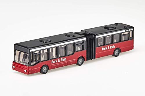 Siku 1617, Gelenkbus, Metall/Kunststoff, Rot/Schwarz, Vielseitig einsetzbar, Spielzeugfahrzeug für Kinder