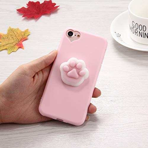 Shiningxie New For iPhone 8 & 7 3D Paw Print Pattern Squeeze Relief Squishy Dropproof Protective Back Cover Case