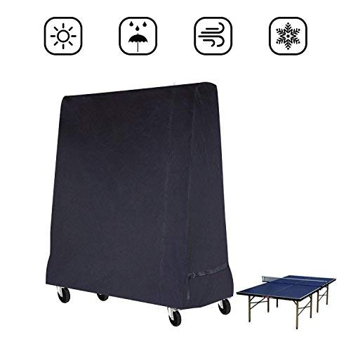 Buzazz Premium Full Size Table Tennis di Tavolo da Ping Pong Copertura Impermeabile Interno/Esterno Nero (185× 70× 165CM)