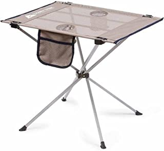 Folding Tables Ozark Trail Small Compact Side Table, Warm Gray