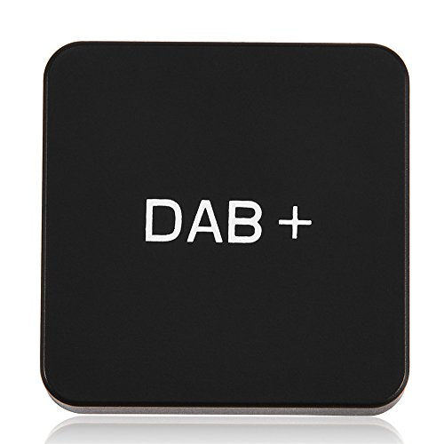 Mugast Auto DAB+ Radio Adapter, draagbare autoradio Digital Audio Broadcast, DAB+ ontvanger-adapter, Mini Digital Radio Tuner Ontvanger Box met antenne voor Android Autoradio Black
