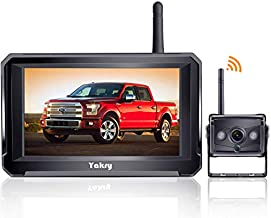 Yakry HD Digital Wireless Backup Camera 5'' Monitor Kit Hitch Rear View Camera System for RVs,Campers,Trucks,Vans IP69 Waterproof Y22