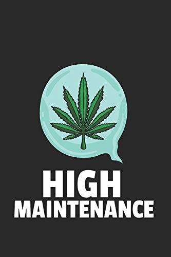 Marihuana Weed Notizbuch: Marihuana Weed Notizbuch für Liebhaber / Notizheft / Notizblock A5 (6x9in) Dotted Notebook / Punkteraster / 120 gepunktete Seiten