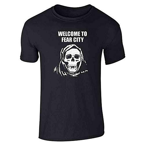 Welcome to Fear City Skull Retro Vi…
