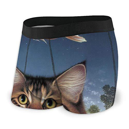 Herren Boxer Briefs Wildlife Art Katzenfutter Heute Goldfisch Catatonic Sunset Trunks Unterwäsche Soft Briefs Shorts Unterhosen XL