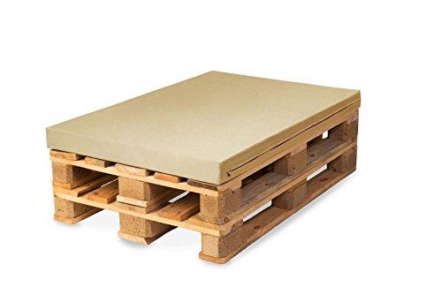 TexDeko BEZUG ohne Schaumstoff für Palettenpolster, Palettenkissen, Palettenpolsterung (Schaumstoff), Palettenmöbel - In & Outdoor (Polsterhöhe: 10cm, Sand)