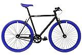 FabricBike- Vélo Fixie Noir, Fixed Gear, Single Speed, Cadre Hi-Ten Acier, 10Kg (S-49, Fully Glossy Red)