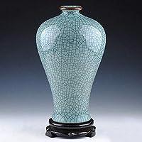 HTL 家庭用家具セラミック花瓶素朴な家庭オフィスパーティーのためのホームインテリア装飾花瓶素朴な装飾青と白の花瓶中国の理想の装飾,私