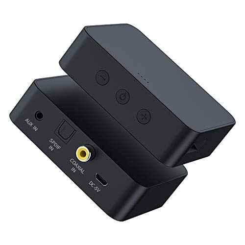Esponja, Cuero, Funda Protectora T6 transmisor Bluetooth 5.0 Computer TV Fibra transmisor Tarjeta coaxial AUX multifunción de Alta fidelidad de Audio Bluetooth TF