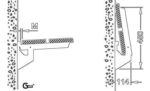 Gedotec Staffa-ribalta Cerniera pattina Vettore