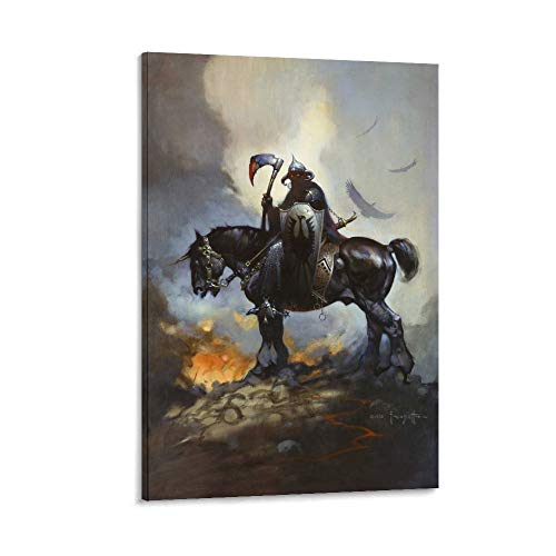 IFUNEW Frank Frazetta Death Dealer Poster Decorative Painting Canvas Wall Art Living Room Posters Bedroom Painting 12x18inch(30x45cm)