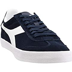 Suede upper lightly padded for comfort rubber outsole for grip lace up closure for a snug fit