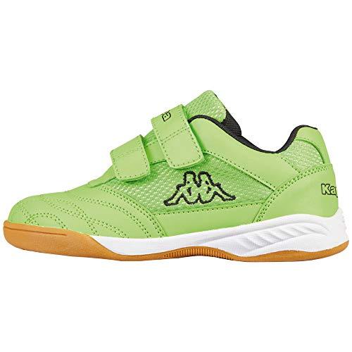 Kappa Unisex-Kinder Kickoff Sneaker, Grün (Green/Black 3011), 36 EU