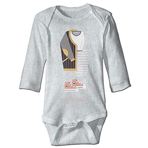 Unisex Newborn Bodysuits My Girl Friend Baby Babysuit Long Sleeve Jumpsuit Sunsuit Outfit Ash