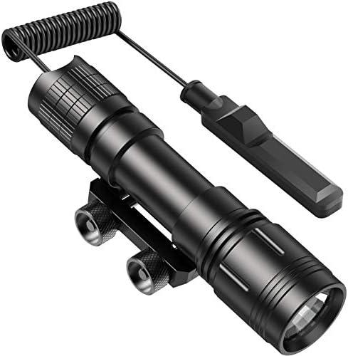 Feyachi WL18 1200 Lumen Professional Rail Mounted Tactical Flashlight Matte Black LED Weapon product image