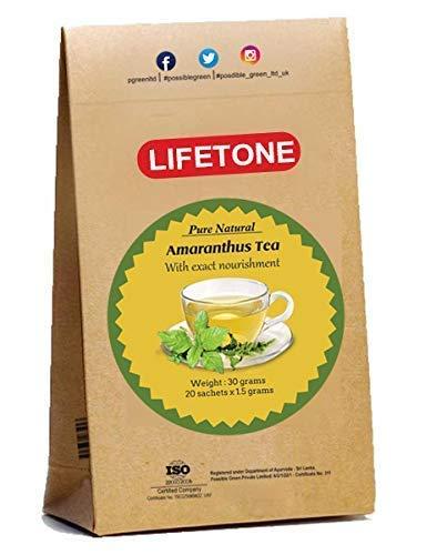 lifetone the tea for better life Tropischer Amarant-Tee | Appetitzügler Tee | Voller Antioxidantien | 20 Teebeutel | Detox-Tee