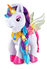 Decorate Myla in a variety of colors by touching the magic brush to the butterfly palette and then applying it to her eyes, wings and horn Stylize Myla with accessories that include a comb, crown and hair clips you can share Watch Myla glitter with l...