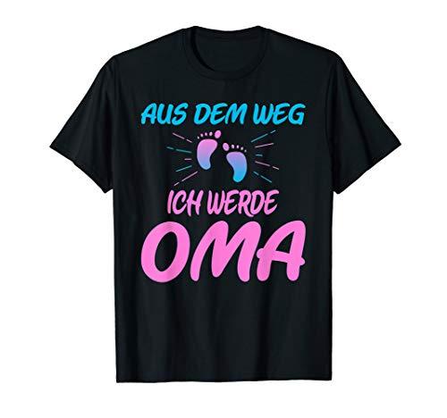 Aus dem Weg ich werde Oma Schwangerschafts Ankündigung T-Shirt