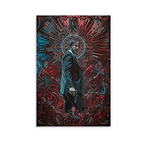 VGFD John Wick Art 4K HD Poster décoratif sur toile pour salon, chambre à coucher 20 x 30 cm