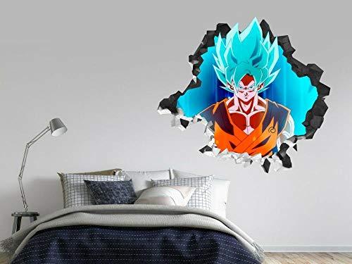 Liuxz Etiqueta de la Pared Azul Smashing Etiqueta de la Pared niños 3D Pegatina decoración Vinilo Arte