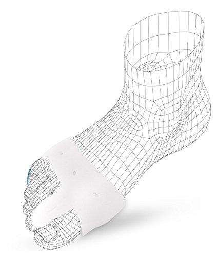 FabaCare Mittelfußbandage aus elastischem Gel mit Zehenkeil für Hallux Valgus, Metatarsal Bandage, Bandage zur Linderung und Vorbeugung bei Hallux Valgus, Zehenspreizer