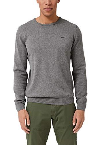 s.Oliver Herren 03.899.61.5232 Pullover, Grau (Blend Grey 9730), Large (Herstellergröße: L)