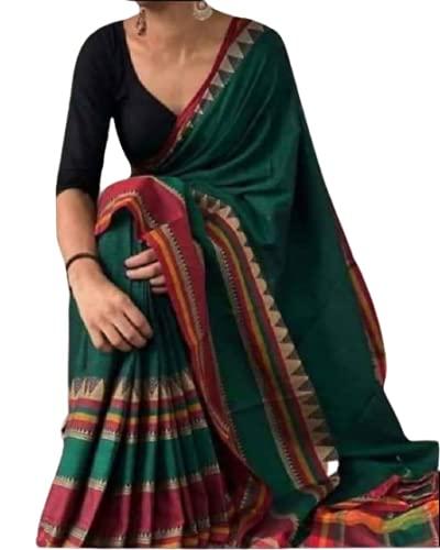 Ghosh Sarees Women Cotton Saree with Blouse Piece [G.S_450 (2) ]