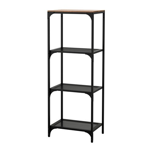 Ikea FJÄLLBO - Estantería para estantes, color negro
