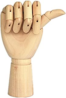 Wood Artist Drawing Manikin Articulated Mannequin with Wooden Flexible Fingers 10