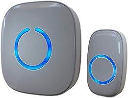 SadoTech Wireless Doorbells - Model C, 1 Push-Button Ringer & 1 Receiver, Battery Operated, Waterproof, Long Range,...