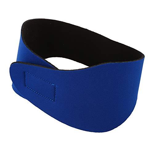 SODIAL Bandeau de Cheveux et d'oreille de Natation Bandeau d'oreille en Neoprene Bandeau de Tete d'engrenage de Protecteur d'eau Bandeau de Natation (Bleu/M)