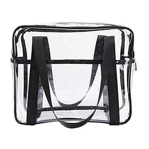 nuoshen Transparente Kulturbeutel, transparent, wasserdicht, Make-up-Kosmetiktasche, PVC-Reißverschluss, Reisetasche für Männer und Frauen