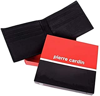 9d6a50f3f605 Pierre Cardin Men's Étui en cuir noir et boîte-cadeau