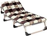 Silla plegable al aire libre reclinable Silla de la cubierta de la silla con el asiento Cojín ajustable Patio plegable Silla de salón Silla de silla de silla de silla de asiento al aire libre Silla de