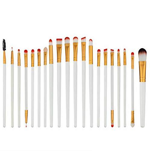 WORISON Maquillage Pinceaux, 20pcs cosmétiques haut de gamme Make Up Foundation Brosses Blending fard à joues Correcteur Shader Compatible Eyeliner Fard à paupières