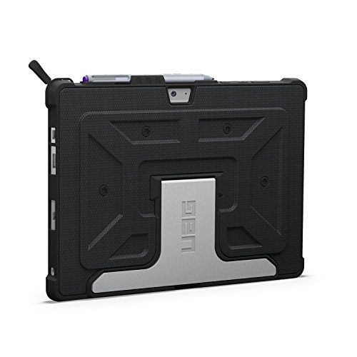 URBAN ARMOR GEAR [UAG] Microsoft Surface 3 Feather-Light Composite [Black] Aluminum Stand Military Drop Tested Case