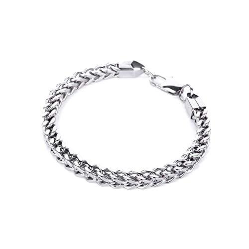 HehiFRlark Y169 - Pulseras para hombre, cadena de niño, acero al titanio universal
