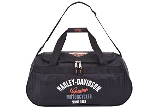 Harley Davidson Logo Sport Duffel (Tail of The Dragon) Bag, Black, One Size
